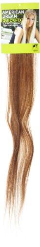 American Dream - A1/QFC12/24/12 - 100 % Cheveux Naturels - Barrette Unique Extensions à Clipper - Couleur 12 - Brun Doré - 61 cm
