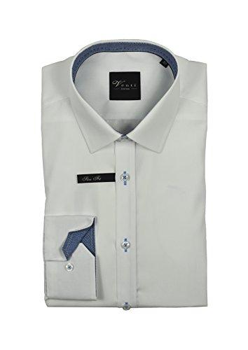 Venti - Body Fit - Bügelfreies Herren Langarm Hemd in verschiedenen Farben (162434600) Weiß (001)