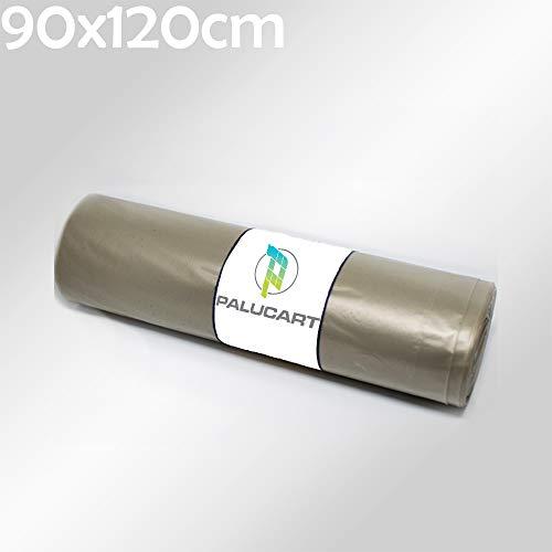 Palucart 40 Sacchi Trasparenti per Spazzatura Resistenti Ambra 90X120 4 Rotoli 120 Litri