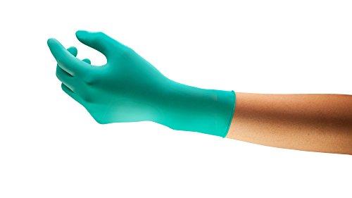 Ansell TouchNTuff 92-605 Einweg-Handschuhe in Nitril, Einmal-Handschuhe, Chemikalien- und Lebensmitteln-Industrie, Grün Größe 8.5 - 9 (Spender mit 100 Handschuhen)
