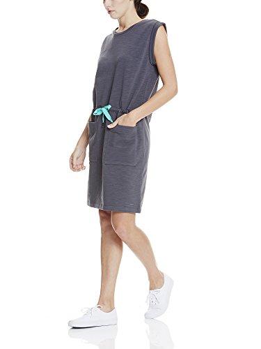 Bench Damen Kleid Drawcord Sweat Dress Grau (Asphalt GY11214)