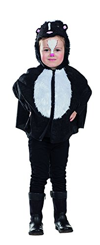 Kleiner Stinker Cape Stinktier Skunk Kostüm für Kinder (Kostüm Skunk)