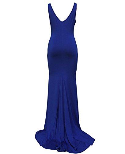 Dissa® femme Bleu SY6743-1 longue Robe Bleu
