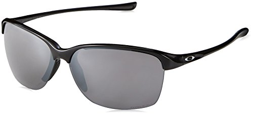 Oakley Women's Unstoppable Rectangular Sunglasses, Polished Black, 65 mm