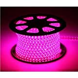 Water Proof 100 METER LED (STRIP LIGHT,COVE LIGHT) Rope Light Color: PINK With Adapter