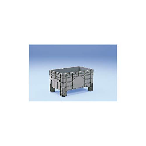 Conteneur grande capacité en polyéthylène - capacité 220 l, 4 pieds avec passages pour fourches - 1 pièce et + - Conteneur Conteneur de stockage Conteneur en plastique Roll-conteneur Bac de stockage Bac-chariot Bacs de stockage Bacs-chariots Caisse de