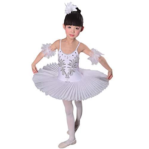 Tanz Kostüm Swan - LOLANTA Mädchen Pailletten Ballett Tanz Performance Kleid Strap Trikot Tutu Little Swan Kostüm