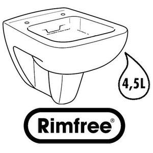 Keramag Renova Nr.1 Plan Tiefspül-WC spülrandlos, wandhängend weiß - 4