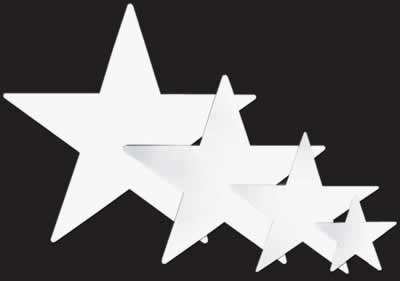 ekoration Folie Star Ausschnitt Weiß-5