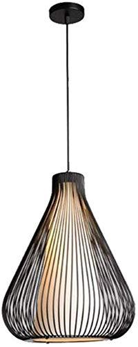 Lámpara colgante moderna, lámpara colgante de jaula de metal para ...