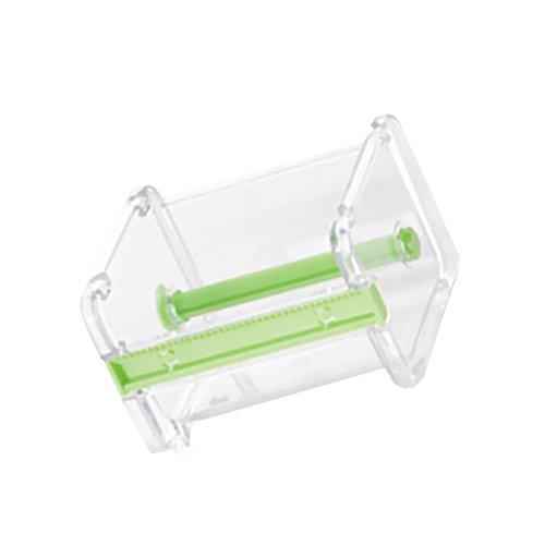 Tape-cutter (FLAMEER Desktop Tape Dispenser Cutter Tapes Aufkleber Aufbewahrungsbox Box Halter - Grün, 10.3x9.1x7.1cm)