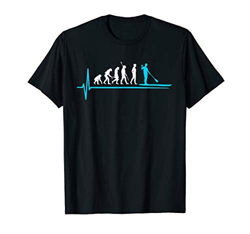 Stand Up Paddle Evolution T-Shirt SUP Herzschlag -
