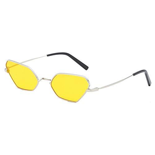 JVSISM Katze Augen Sonnenbrillen Metall Rahmen Mode Sonnenbrillen Brand Design Brillen Brillen Gelb
