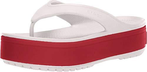 crocs Unisex-Erwachsene Crocband Platform Flip U Dusch-& Badeschuhe, (Barely Pink/Pepper 6qb), 38/39 EU