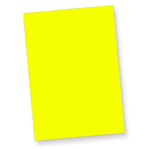 A4, 80 g/qm farbiges Briefpapier, Leuchtpapier, 50 Blatt - Gelb (Neon-pink Papier)