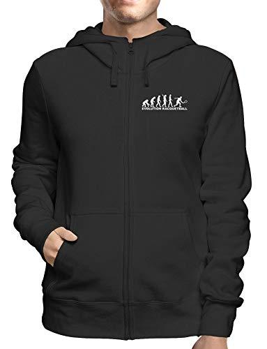 Sweatshirt Hoodie Zip Schwarz DEC0122 Evoluzione Squash