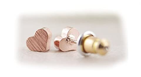 Heart Earings (Rose Gold Plated)