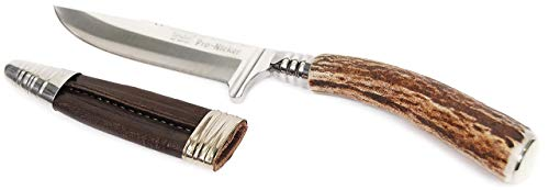 TRACHTique Trachtenmesser, Jagdmesser, Hirschfänger mit Gravurplatte und 9cm Klinge aus Edelstahl