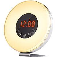 Lichtwecker, Wake Up Licht Tageslichtwecker Radiowecker Kinderwecker Wecker Nachtlicht - FM-Radio & Mehrere Naturgeräusche... preisvergleich bei billige-tabletten.eu