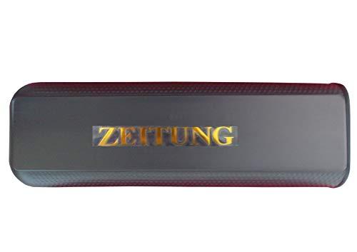 Zeitungsbox aus hochwertigem Kunststoff mit Befestigungslaschen (Schwarz)