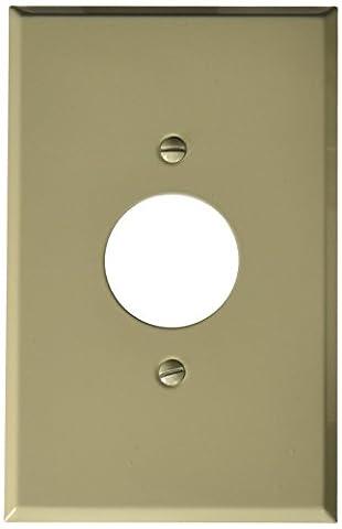 Morris 83753 Painted Steel Wall Plate, Oversize Single Receptacle, 1