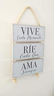 Letrero de Madera con Frases. Mensajes Positivos e inspiradores para decorar tus espacios, regalar, compartir