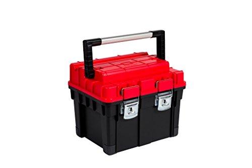 Kreher XL Werkzeugkoffer, Werkzeugbox mit Aluminium Griff, Metallverschlüssen, Schneidvorrichtung...
