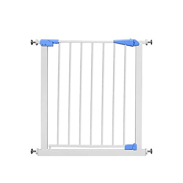 Infant child baby safety gate bar stairway fence free punching household protective railings pet dog isolation fence AA-SS-Safety Door ♥Squeeze and lift handle for easy one handed adult opening ♥Quick-release fittings for removal when not required ♥Includes stop pins for mounting at the top of stairs 1