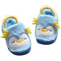 BESTOYARD Zapatillas de Invierno Suaves y Lindas Antideslizantes Calzado de Invierno para niños pequeños (Azul)