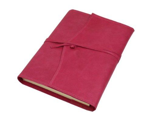 Papuro Milano Nachfülleinlage für Italienisches Raspberry Pink Leder Adressbuch-15x 21cm