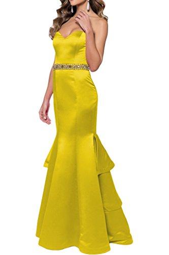 Toscana sposa Modern scollo a cuore pietre sera, abiti Guertel graduati Party Ballo vestiti Oro