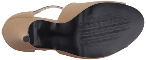 Pleaser Damen Dream-412 Sandalen mit Absatz Taupe Nubuck