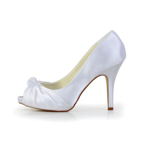 Jia Jia Wedding 37051 Scarpe Sposa Scarpe col tacco donna Bianco