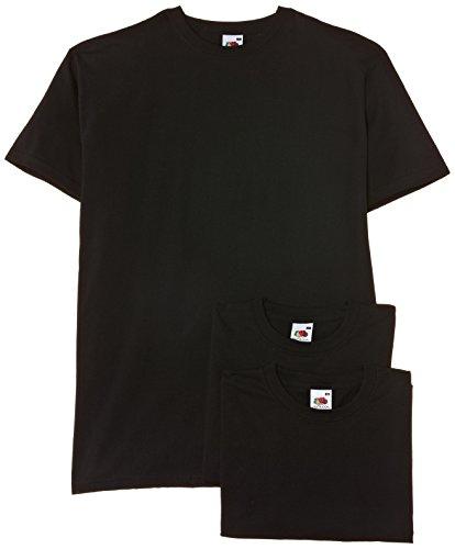 fruit-of-the-loom-camiseta-de-manga-corta-con-cuello-redondo-para-hombre-pack-de-3-color-negro-talla