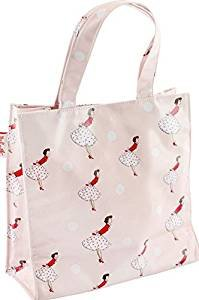 Gossip Girl - Small / Mini Pretty Oilcloth Tote / Lunch Bag - Mrs Smith Katie Butterfly Paradise Millie Floral + Reusable Shopper (Retro - Pink)
