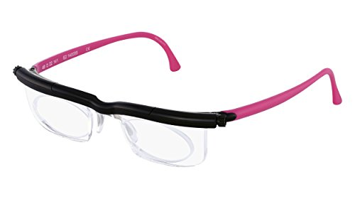 Adlens Individuelle Brille Sehhilfe Lesebrille / schwarz pink / -5 Dioptrien