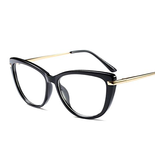 Ultraleichte Brillenfassung für Herren und Damen, großer Rahmen Durchsichtig Klassische Kostüme Party Halloween. Ultra leicht (Farbe : Schwarz)