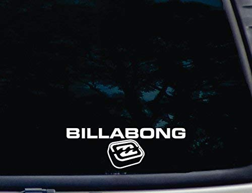 SUPERSTICKI 3D Billabong -die Cut Vinyl Decal for Windows, Cars, Trucks, Tool Boxes, laptops, MacBook - virtually Any Hard, Smooth Surface ca. 20cm Aufkleber Autoaufkleber Wandtattoo -