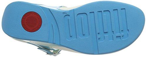 FitFlop™ SUPERJELLY - Mule Toe-Post de la femme. Ceramic Blue