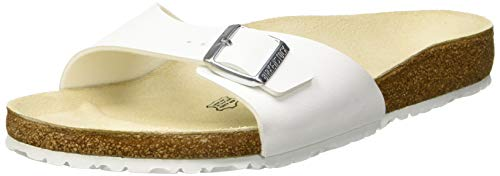 Birkenstock, madrid birko-flor, sandali, unisex - adulto, bianco, 46 eu (stretta)