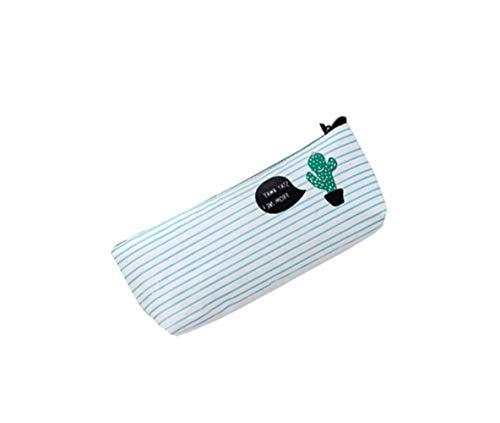 Qifumaer toile Trousse à Crayon cactus Cosmetic Bag Toile Sac Crayon Cas pour étudiant Fourniture Scolaire 1 pcs Qifumaer