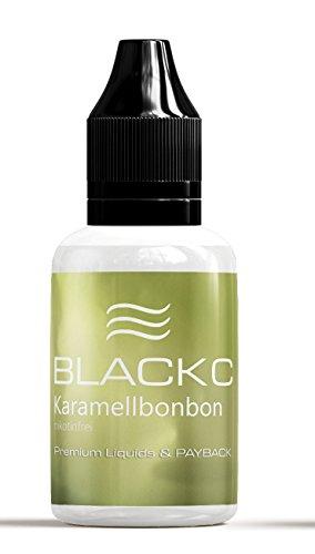 BLACKC PREMIUM E-Liquids für E-Zigaretten und E-Shishas, MADE IN GERMANY, Nikotinfrei, 19 Geschmackssorten, 20 / 50 ml Fläschchen (Karamellbonbon, 20 ml)