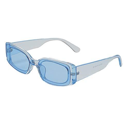 EUCoo Sonnenbrillen Mode Wild Retro Katzenaugen Coole Uv-Strand Sonnencreme Sonnenbrillen(Blau)
