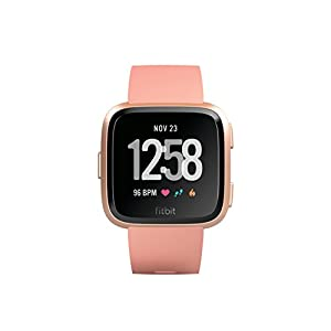 Fitbit Versa - Reloj Deportivo Unisex - Beige (Melocotón) - Talla Única