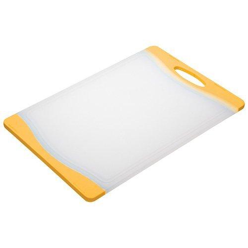 KitchenCraft Colourworks Polyethylene Reversible Cutting Board, 36.5 x 25 cm - Yellow