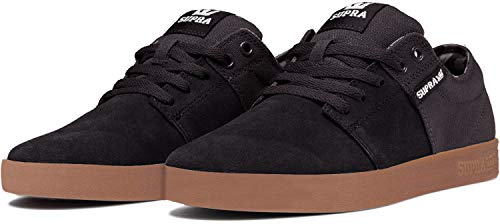 Supra Stacks II, Zapatillas de Skateboard Unisex Adulto, Negro Black-Gum-M 55, 43 EU