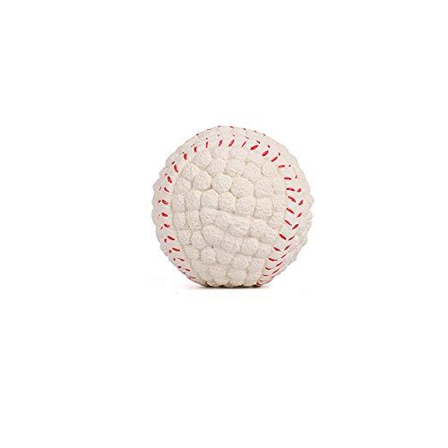 KDSANSO Kauspielzeug Hunde,Hunds-Bouncy-Ball beißen beständiger und unzerstörbarer Hundetrainings-Ball, Haustier Gummi Bouncy Ball(Baseball),Weißer Durchmesser 9,5 cm