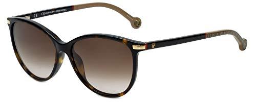 Occhiali da sole carolina herrera donna shiny dark havana lenti brown gradient she651 722l 54-15-140
