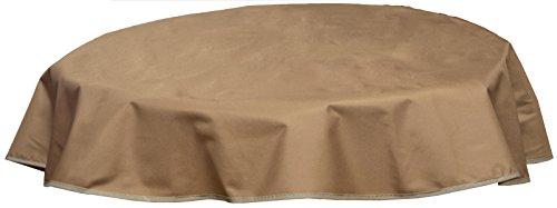 beo Outdoor-Tischdecken wasserabweisende, rund, Durchmesser 120 cm, sand
