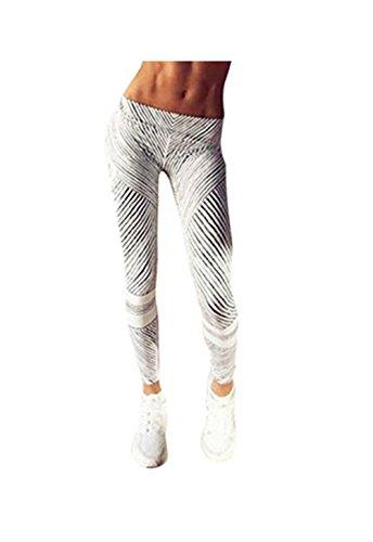 Meshofe - Legging de sport - Femme Weiß